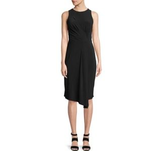 TAYLOR Front-Knotted Black Cocktail Dress